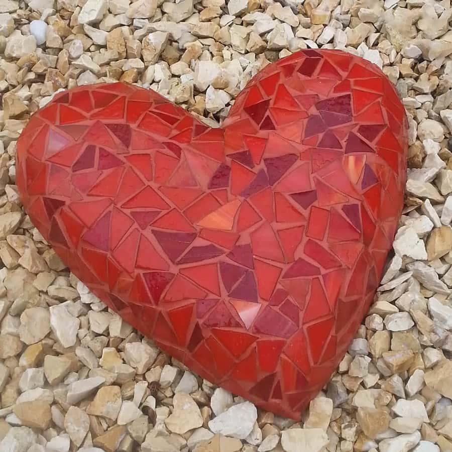 Rood hart mozaïek